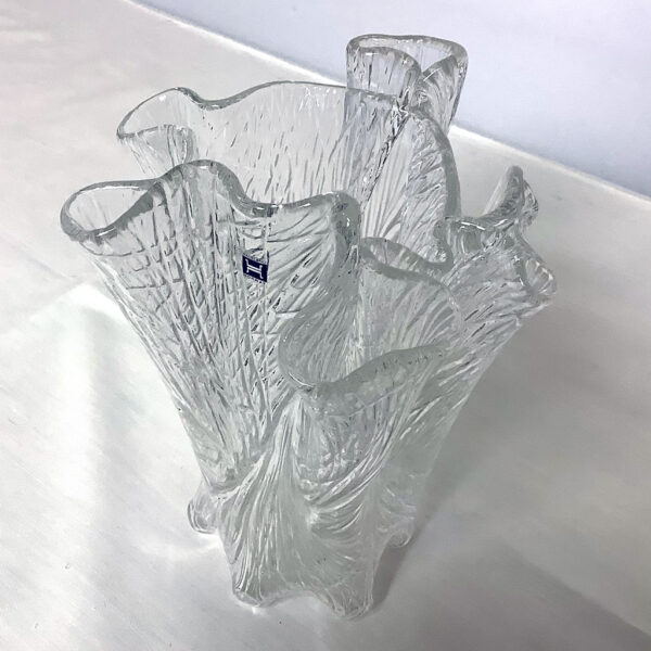 Free Form Art Glass Vase by Hadeland of Norway