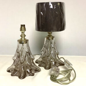 Vintage Glass and Chrome Lamps